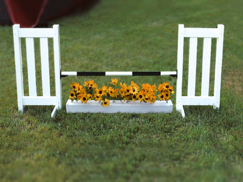 Double Picket Jump With Flower Box