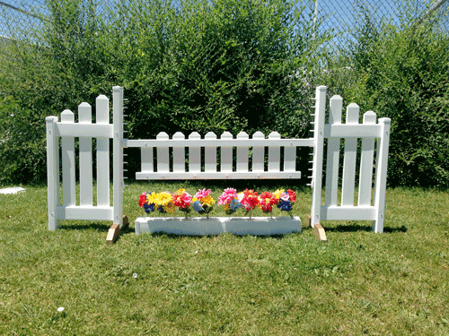 Picket Gate with Flower Box